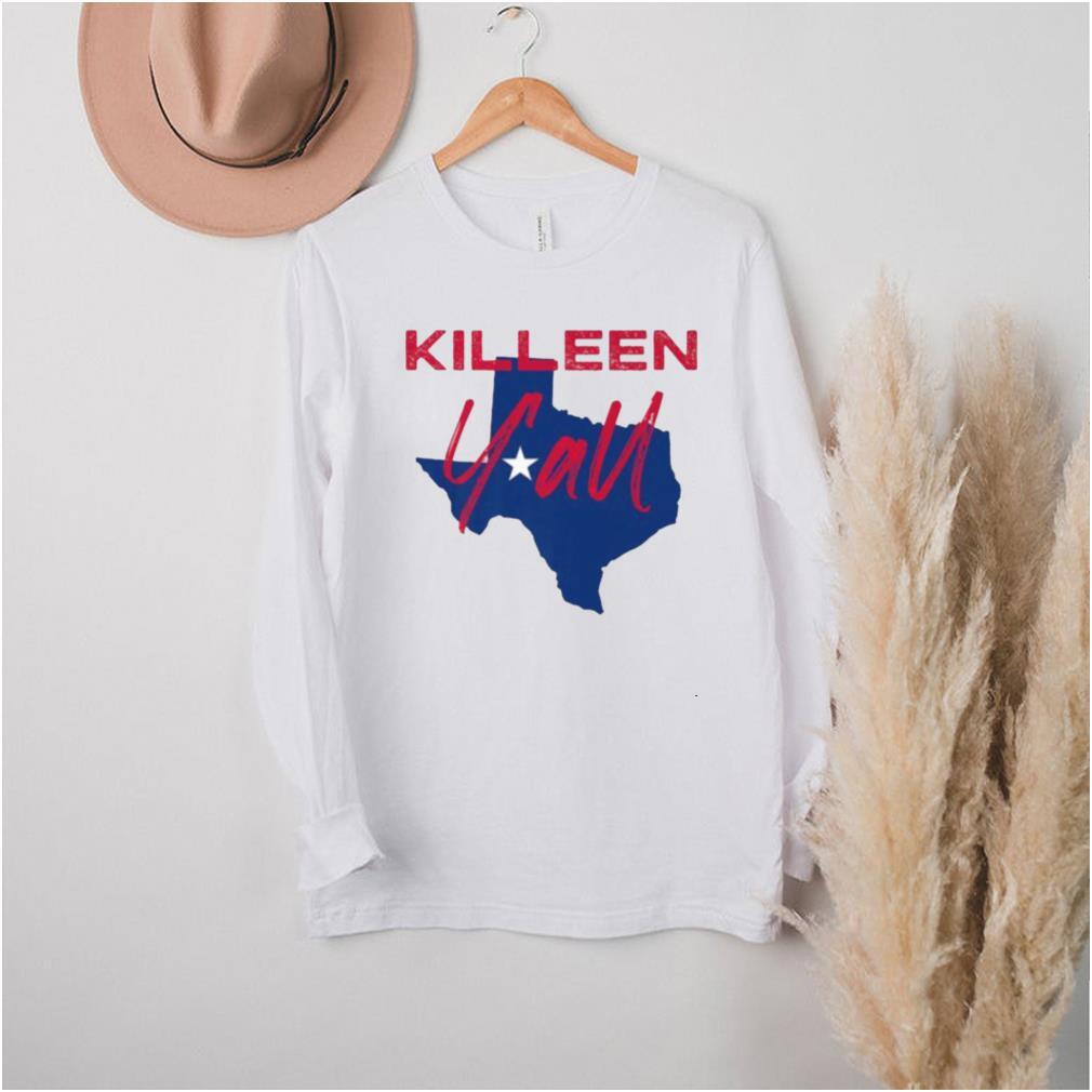 Killeen Texas Yall TX Pride State Map T Shirt