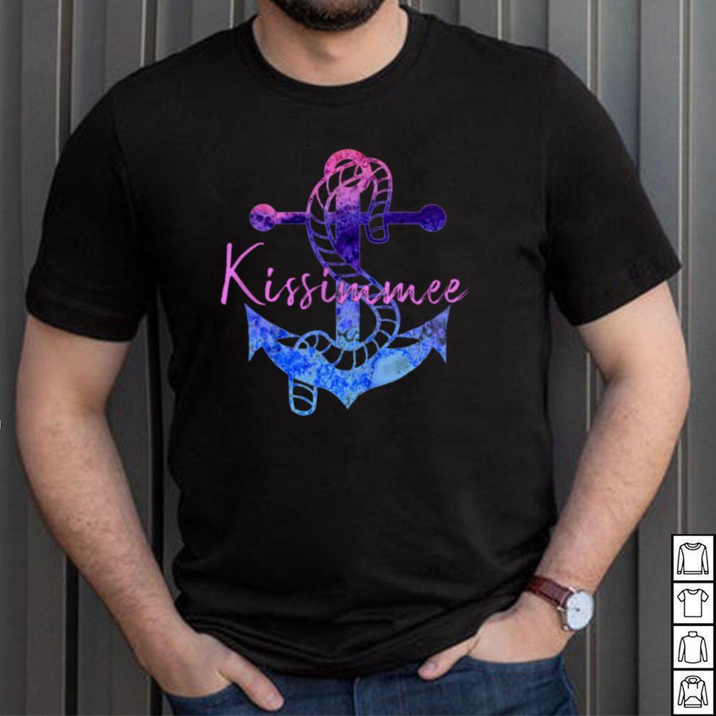 Kissimmee Florida Retro Anchor Beach Nautical Vacation shirt