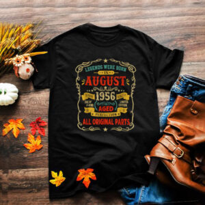 Legends Were Born In August 1956 65th Birthday Gifts T Shirt