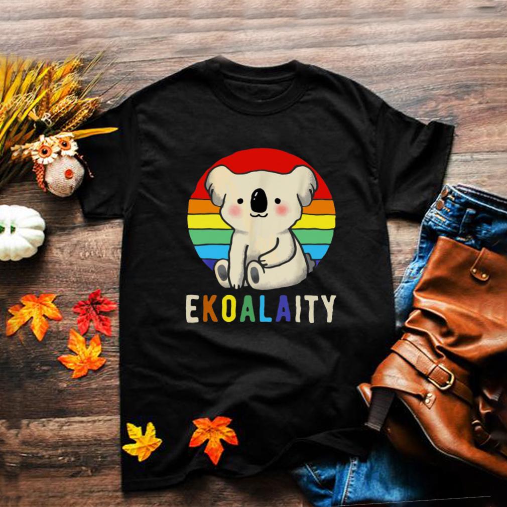 Lgbt Koala Bear Rainbow Flag Gay Vintage T shirt