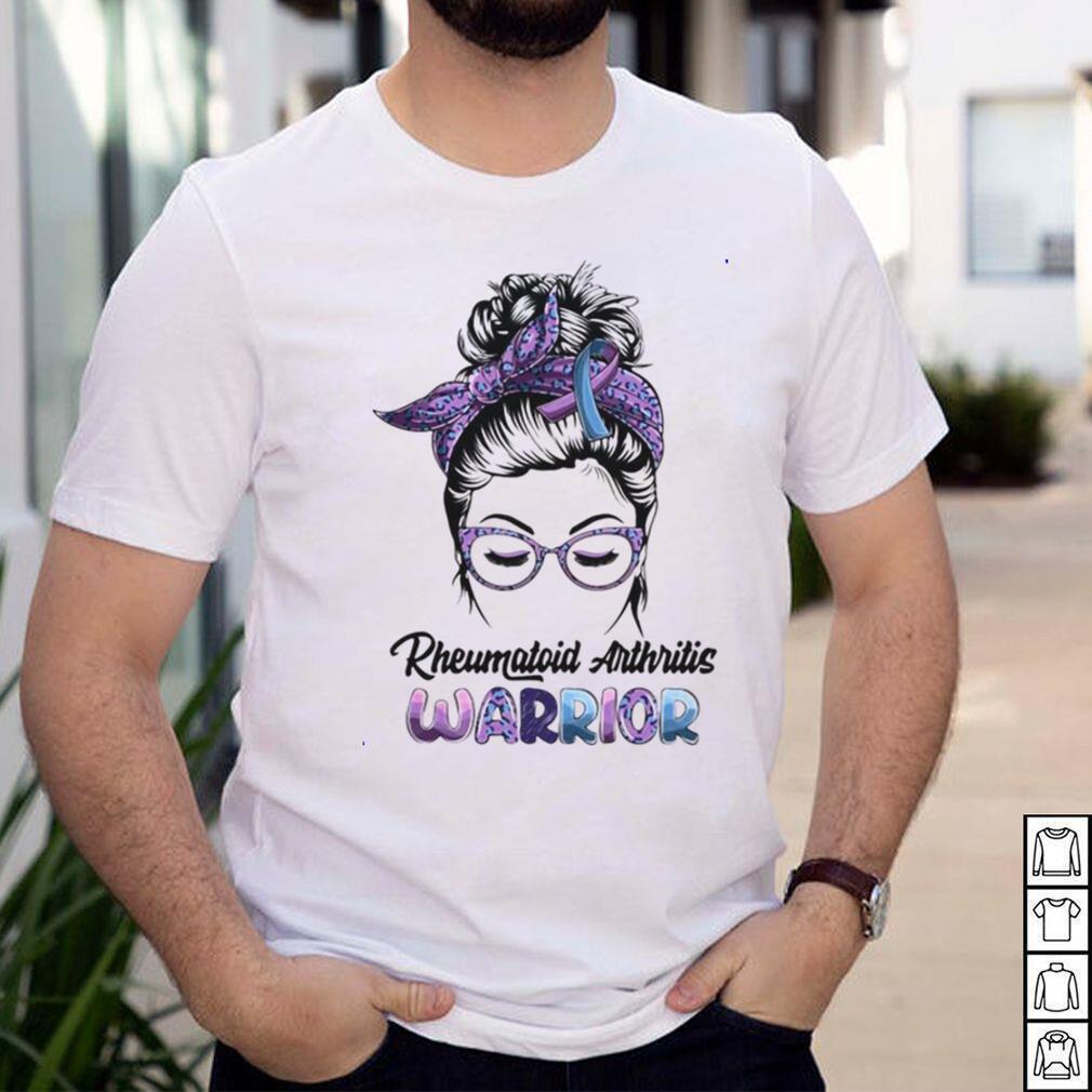 Messy Bun Believe Girls Rheumatoid Arthritis Warrior T shirt