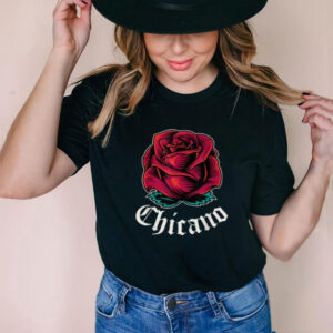 Mexican Pride Apparel Rose Latino Culture Power Chicano T Shirt