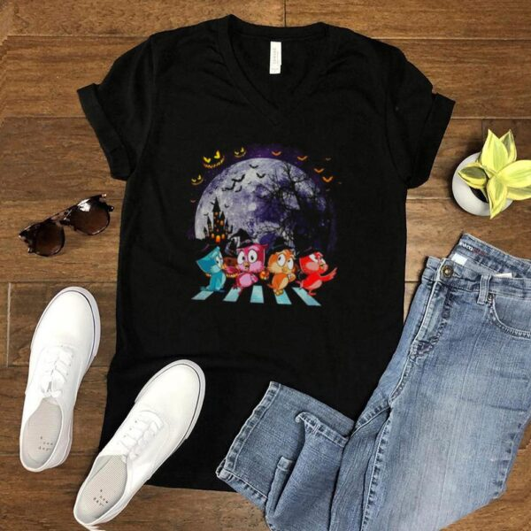 Owl Colorful Abbey Road Happy Halloween shirt