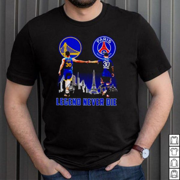 Paris Curry and Messi legend never die shirt