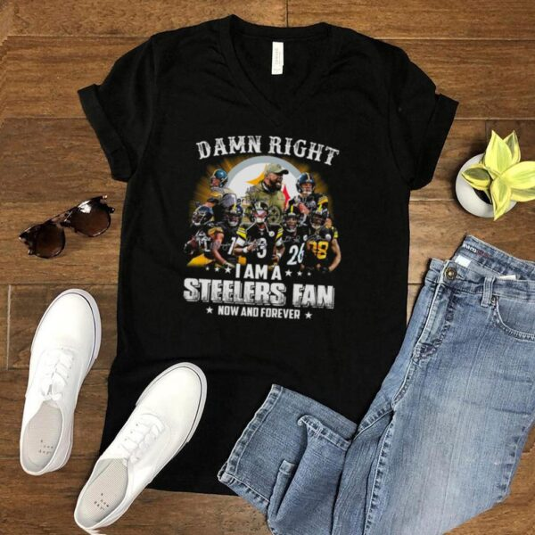 Pittsburgh Steelers Baseball Teams Damn Right I Am A Steelers Signature Fan Now And Forever shirt