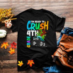 Ready To Crush 4th Grade Bigfoot Dinosaur Ride Monster Truck shirt