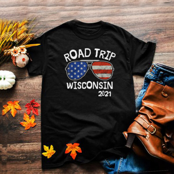 Road Trip Wisconsin 2021 Vacation Family Friends Matching T shirt