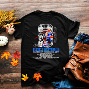 Russell Westbrook Oklahoma city Thunder 2008 2019 thank you for the memories shirt