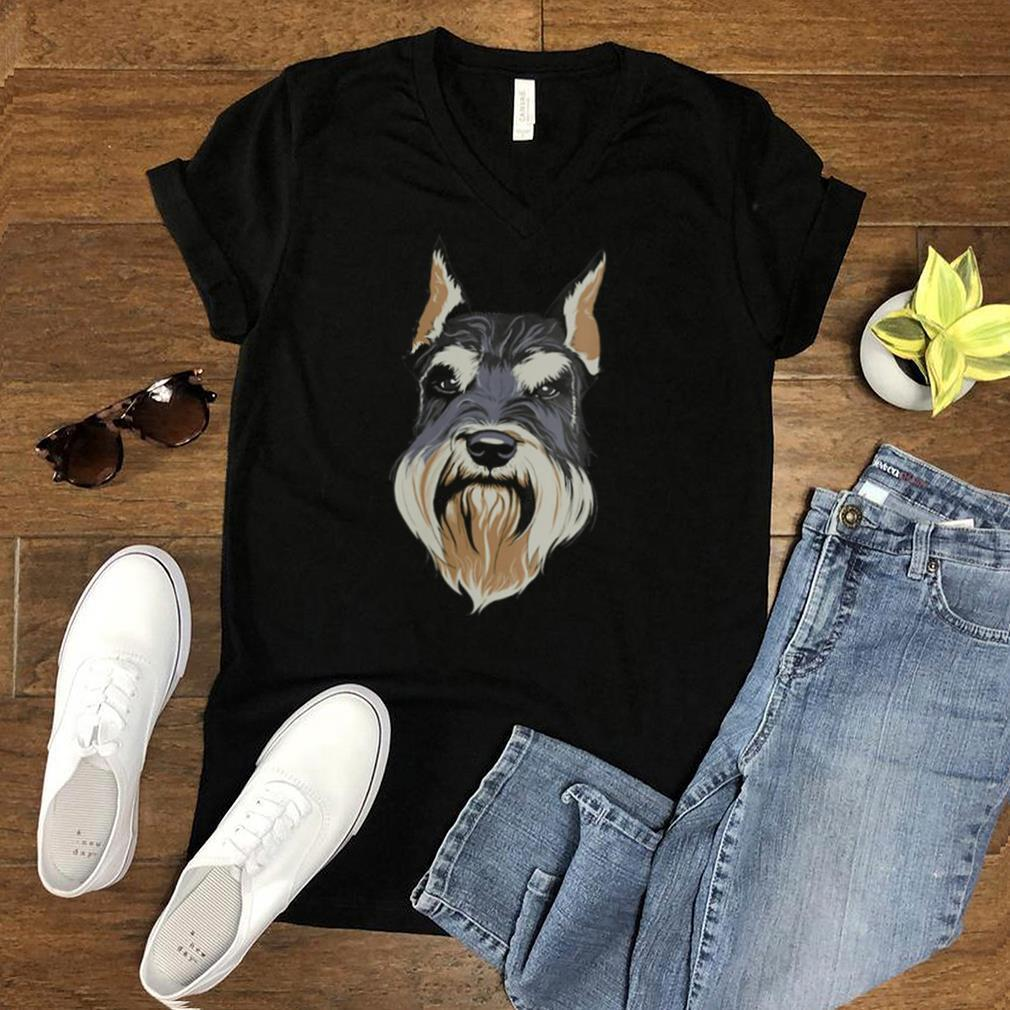 Schnauzer Head Animal Keeper Pet Owner Whisperer shirt