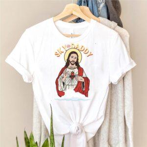 Sky Daddy Jesus Athée Athéisme Agnostique Anti Religion Freethinker Hommes Femmes T shirt essentiel