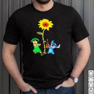 Stitch playing guitar sunflower you are my sunshine shirt