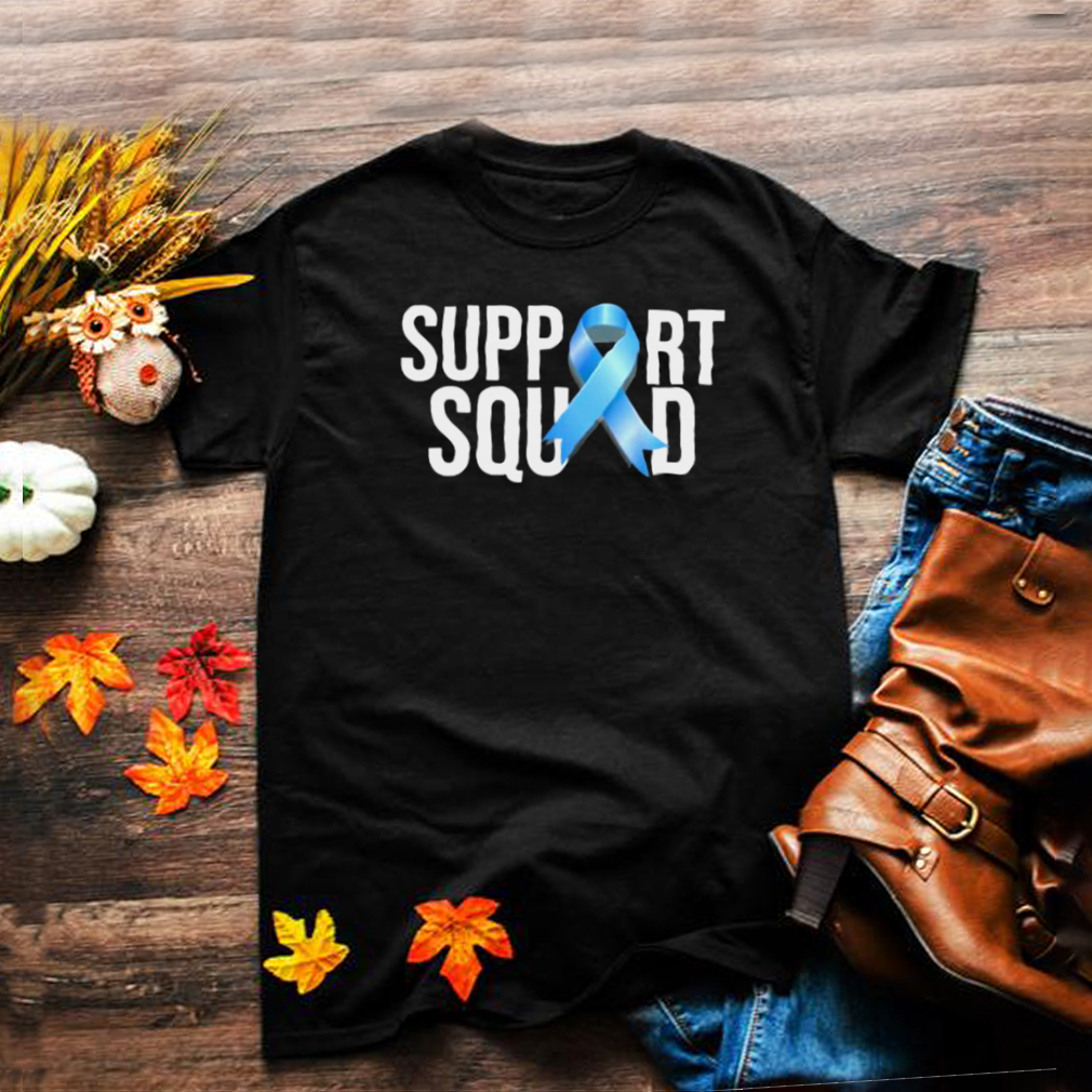 Support Squat Prostate Cancer Awareness Blue Ribbon Survivor T Shirt