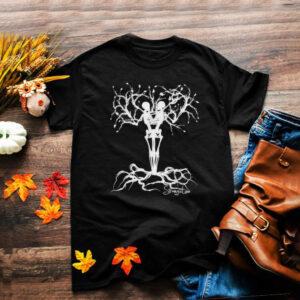 Teamstrange Strange Love Skeleton Tree Rocking Design T Shirt