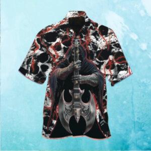 The Death With The Wood Guitar Hawaiian Shirt