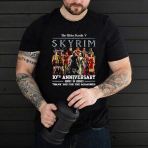 The Elder Scrolls V Skyrim 10th anniversary 2011 2021 shirt