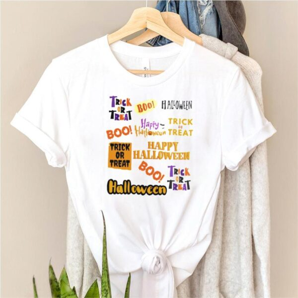 Trick or treat Halloween boo shirt