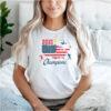 USA 2021 Soccer Champions American Flag T Shirt