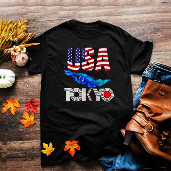 USA 2021 sports America Swimming Flag T Shirt