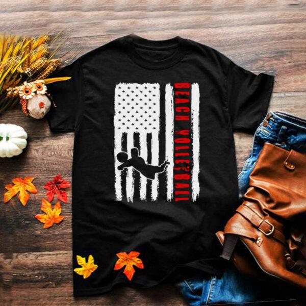 USA beach volleyball team American flag US beach volleyball T shirt