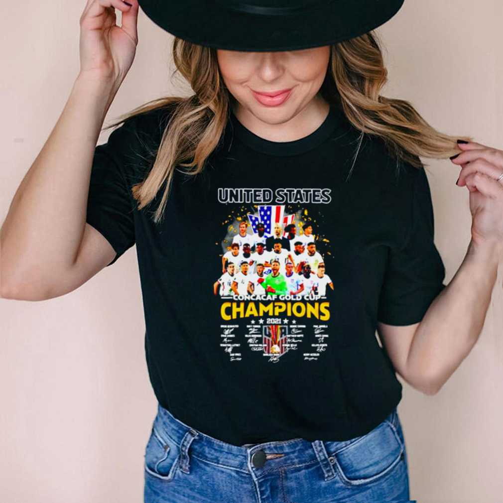 United States Concacaf Gold Cup champions 2021 shirt