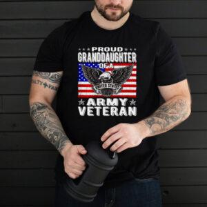 United States Proud Granddaughter Of Army Veteran Patriotic Military T shirt
