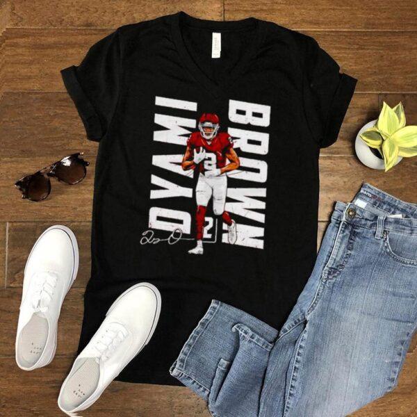 Washington Football Dyami Brown vertical name signature shirt