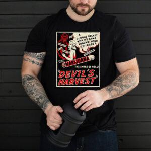 Weed Art Devil Harvest Marijuana Weed Propaganda T shirt