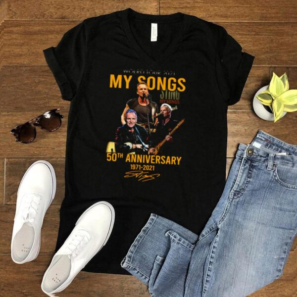 World Tour 2021 Sing My Songs 50th Anniversary 1971 2021 Signature T shirt