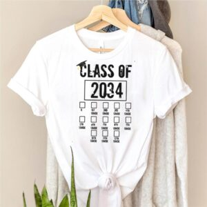class Of 2034 Grow With Me Check Mark First Day Of School T Shirt
