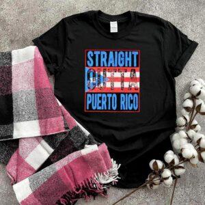 straight Outta Puerto Rico American Flag Shirt