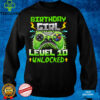 10th Birthday Girl Ten Years Level 10 Unlocked Video Gamer T Shirt