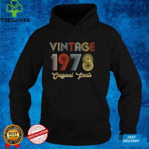 43rd Birthday Vintage 1978 Original Parts Vintage Theme T Shirt