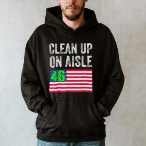 Anti Biden Clean Up On Aisle 46 Impeach Biden Flag US Tee Shirt