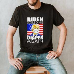 Anti Biden Shirt Biden Face Mask Soiled His Diaper Again T Shirt