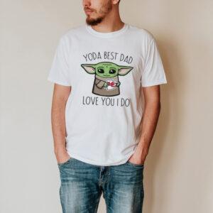 Baby Yoda The Child Hug Kansas City Chiefs Yoda Best Dad Love You I Do Shirt