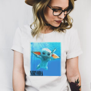 Baby Yoda swimming eat frog Nir Yoda shirt