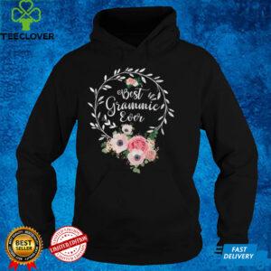 Best Grammie Ever Shirt Women Flower Decor Grandma T Shirt