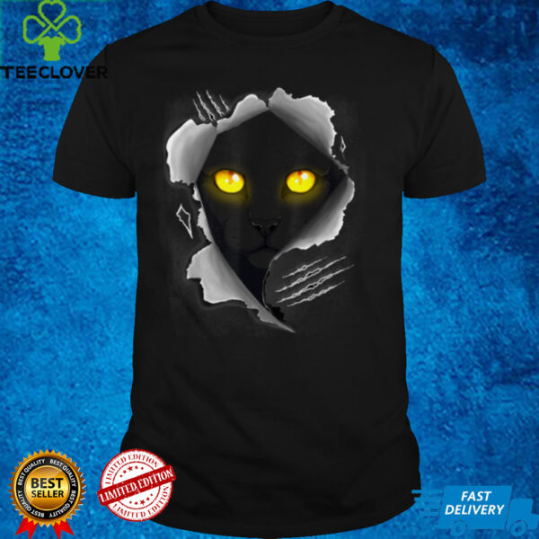 Black Cat Torn Cloth Cool Cats And Kittens Tee For Men Women T Shirt