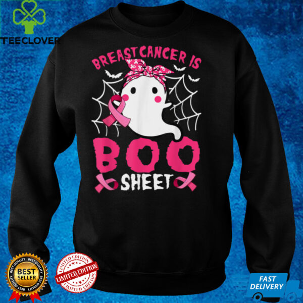 Breast Cancer Is Boo Sheet Pink Ribbon Funny Halloween T Shirt