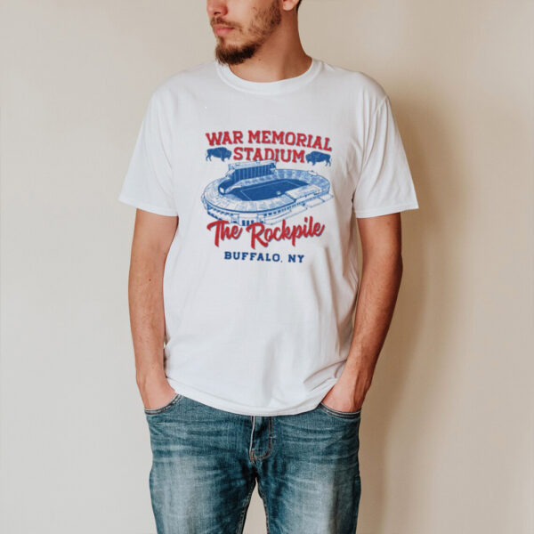 Buffalo war memorial stadium the rockpile shirt