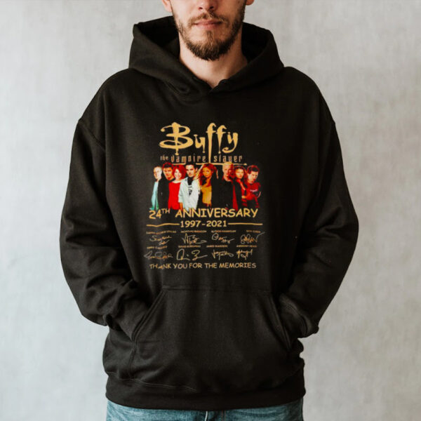 Buffy the Vampire Slayer 24th Anniversary 1997 2021 thank you for the memories shirt