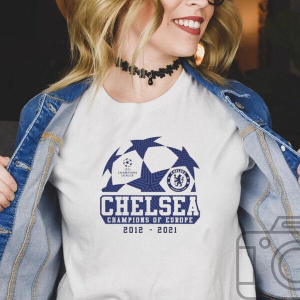 Chelsea UEFA 2021 champions of Europe shirt