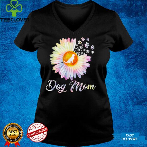 Daisy Flower Dog Mom Paw Footprint Funny For Men Women T Shirt