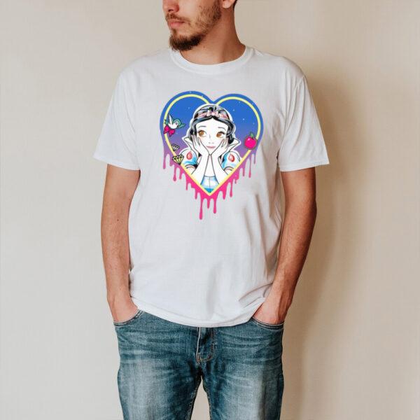 Disney Princess Snow White Pretty Heart Drips T shirt