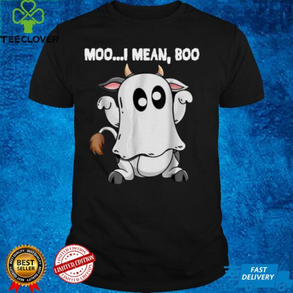 Ghost Cow Moo I Mean Boo Halloween, Cow Lover T Shirt