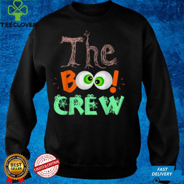 Halloween Boo Crew Men Women Kids Funny Friends Girls Boys T Shirt