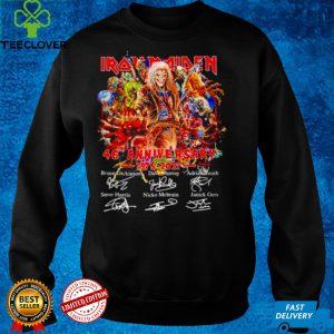 Iron Maiden 46th anniversary 1975 2021 signatures shirt