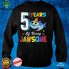 Kids 5 Years Old Boys Girls Gift Shark Jawsome 5th Birthday T Shirt