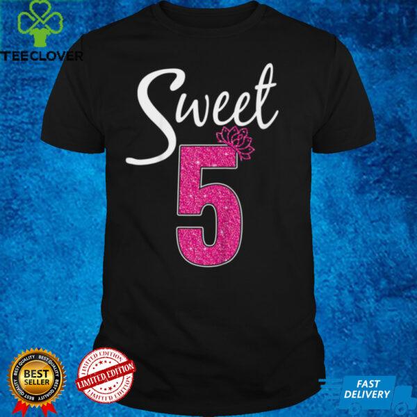 Kids Sweet 5 Birthday 5th Birthday Girl T Shirt