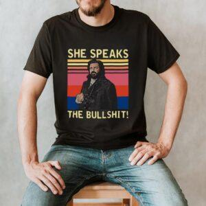 She Speaks The Bullshit Vintage Retro T shirt